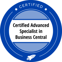 Certified advanced specialist | Business Central Booster